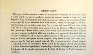 Studies on the Monogenetic Trematodes of the Texas Coast. II. Descriptions of species from marine ...
