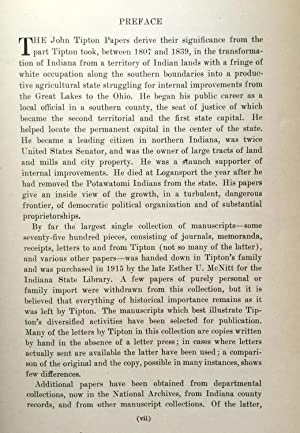 The John Tipton Papers in Three Volumes (1809-1839) (Indiana Historical Collections)