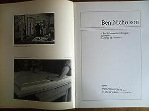 Ben Nicholson,: A Studio international special,: Ben Nicholson