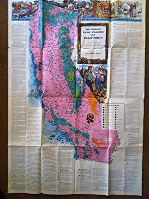 Outdoor Play Places of California, A Cartographic Map of Some of the Outstanding Recreational Areas...