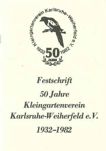 Festschrift 50 Jahre Kleingartenverein Von Karlsruhe Zvab