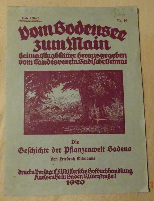 Die Geschichte der Pflanzenwelt Badens: Oltmanns, Friedrich