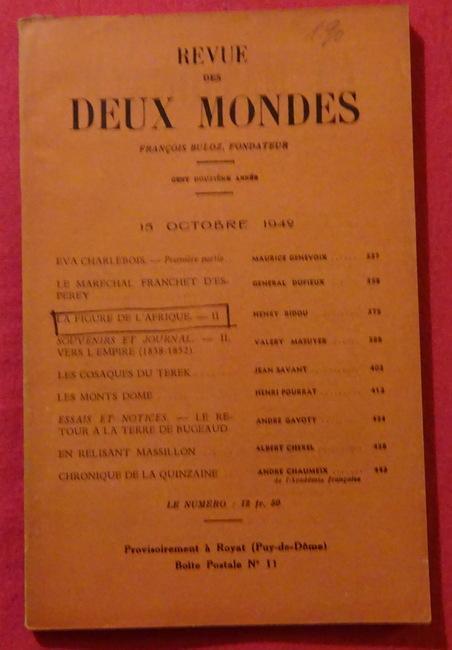 Revue des Deux Mondes 15 Octobre 1942: Buloz, Francois (Fondateur):