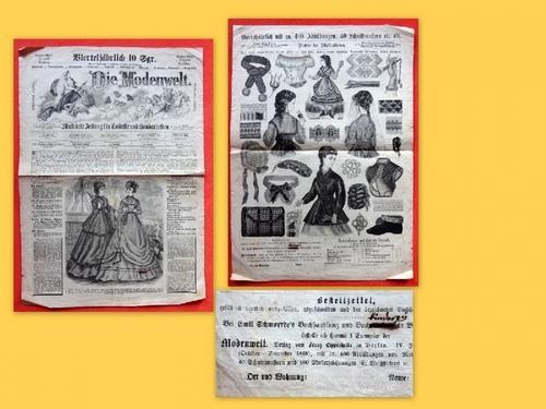 """Werbeplakat für """"Die Modenwelt"""" (Illustrierte Zeitung für"""