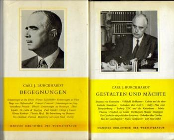 6 Bücher v. Carl J. Burckhardt: Burckhardt, Carl J.,: