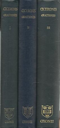 M. Tulli Ciceronis. Orationes 3 Bände: Cicero, Markus Tullius: