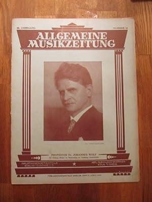 Allgemeine Musikzeitung 56. Jg. Nr. 16: Schwers, Paul (Hg.):