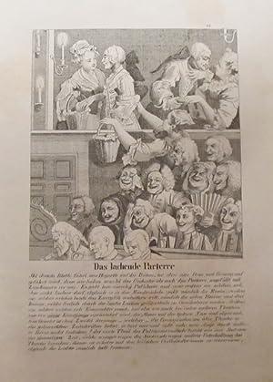 """Lithographie """"Das lachende Parterre"""": Hogarth, William:"""