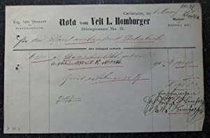 """Obligation / Schuldverschreibung """"Nota von Veit L.: Obligation / Schuldschein"""