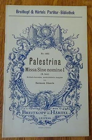 Missa Sine Nomine I (X. toni) kritisch-korrekte,: Palestrina, Pierluigi da: