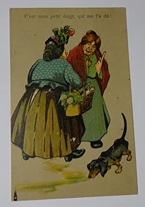 """Ansichtskarte """"C`est mon petit doigt, qui me: ohne Autor:"""