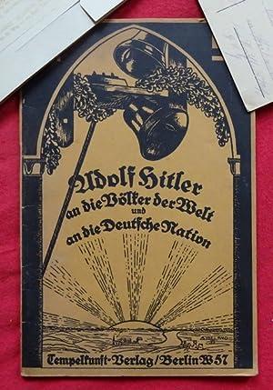 Adolf Hitler an die Völker der Welt: Walter-Schomburg, Kurt L.: