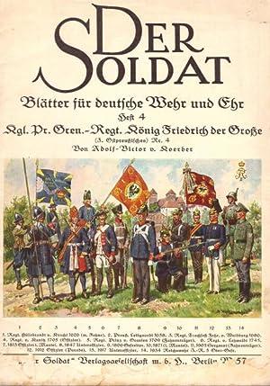 DER SOLDAT Heft 4 - Kgl. Pr.: von Koerber, Adolf-Victor: