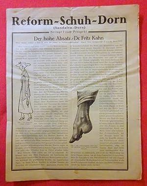 Der hohe Absatz (Beilage I zum Prospekt): Reform-Schuh - Kahn,