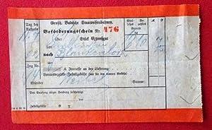 Beförderungsschein Nr. 476 für 1 Stück Expreßgut