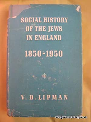 Social History of the Jews in England 1850-1950