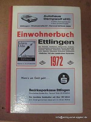 Einwohnerbuch Ettlingen von 1972 mit Bad Herrenalb,: Ettlingen - ohne