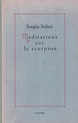 Méditations sur le scorpion