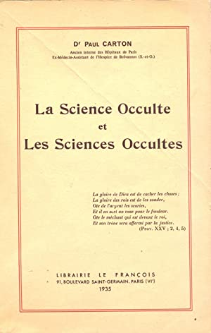 La Science Occulte et les Sciences Occultes