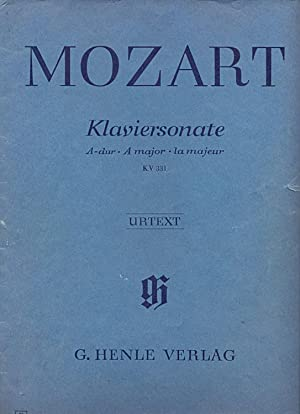 Klaviersonate A-dur. A major. la majeur KV 331
