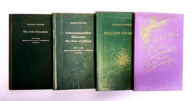 4 Bände Konvolut -: Steiner, Rudolf