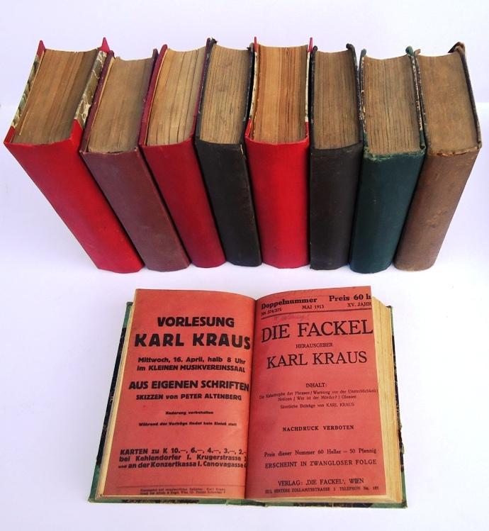 126 Originalnummern DIE FACKEL zwischen 1899 und: Kraus, Karl -