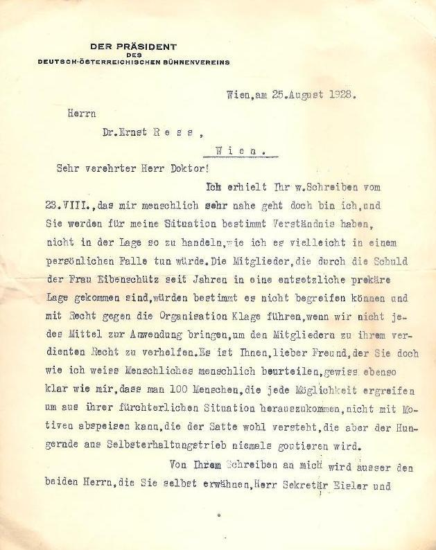 Masch. Brief mit eigenhändiger Unterschrift von Ludwig: Stark, Ludwig