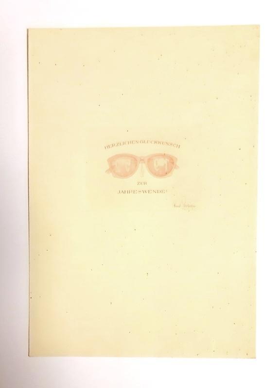 1 Originalradierung. Herzlichen Glückwunsch zur Jahreswende 1952.: Zenziger, Rudolf
