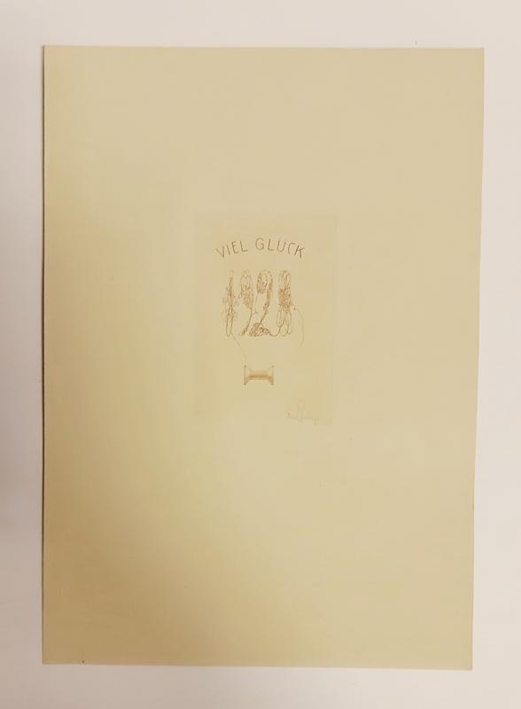 1 Originalradierung. Viel Glück 1928. Mit Bleistift: Zenziger, Rudolf