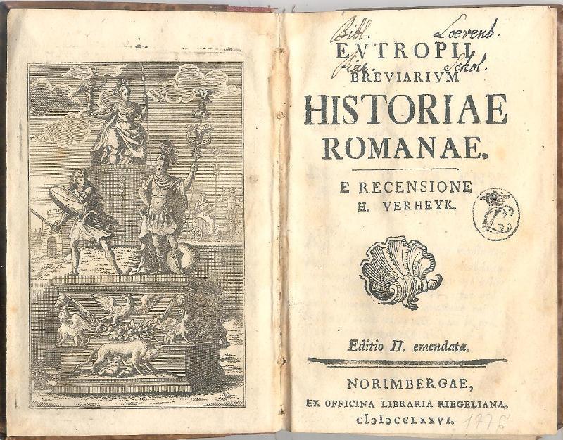 eutropius breviarium historiae romanae Eutropius eutropius is the author of eutropii breviarium historiae romanae (00 avg rating, 0 ratings, 0 reviews), eutropii breviarium historiae romanae .
