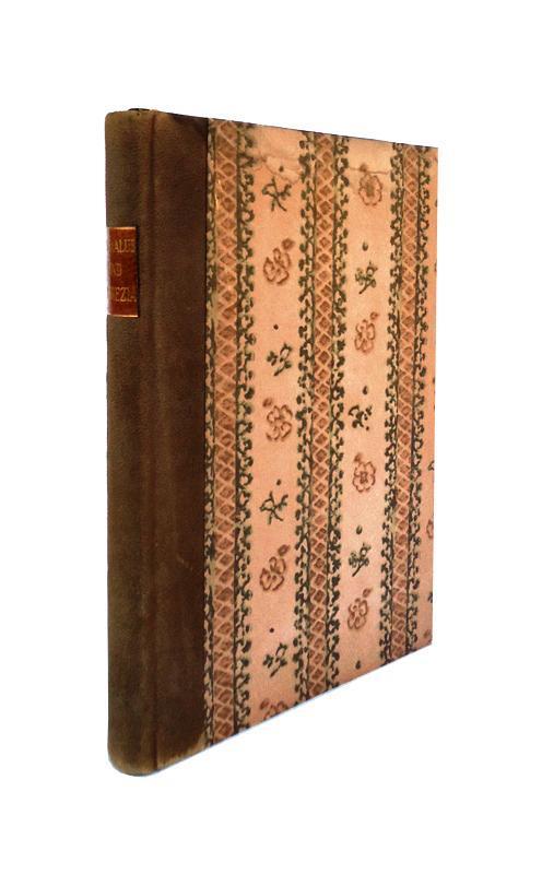 Bibliophile Halblederausgabe - Euryalus und Lukrezia. Aus: Piccolomini, Aeneas Sylvius