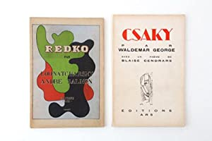 "1. Salmon, Andre: Clément Redko. - 2.: EDITIONS ""ARS"" -"