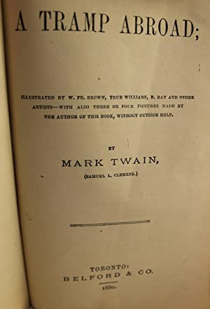 A Tramp Abroad: Mark Twain