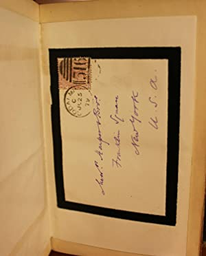 Impressions of Theophrastus Such Hand-Written Signed Letter: George Eliot/ Mary Ann Evans/ Mary Ann...
