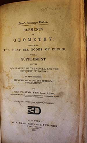 Elements of Geometry: Containing the First Six Books of Euclid, with a Supplement on the Quadrature...