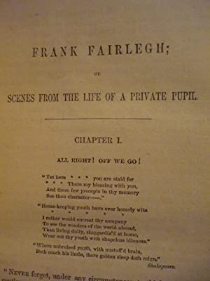 Frank Fairlegh, Scenes from the Life of a Private Pupil: Frank E. Smedley
