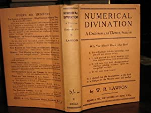 NUMERICAL DIVINATION, A Criticism and Demonstration: LAWSON, W R