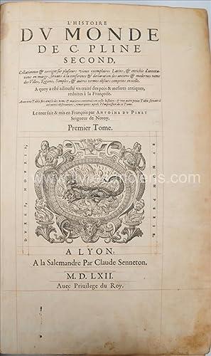 Histoire du monde de C. Pline Second,: PLINE L'ANCIEN, Gaius