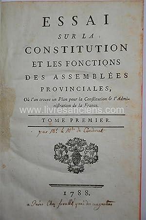 Essai sur la Constitution et les Fonctions: CONDORCET, Jean Antoine