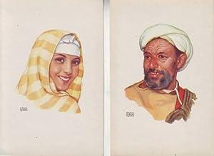 MARRUECOS. Postales por Erwin Hubert. Oficina de Turismo del Protectorado Español en Marruecos.: ...
