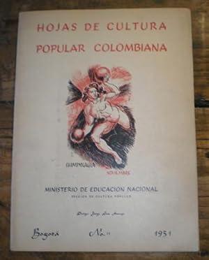 HOJAS DE CULTURA POPULAR COLOMBIANA Nº11. Dirige: Jorge Luis Arango.