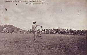 LANZAMIENTO DE DISCO. ACADEMIA DE INFANTERIA, gabinete fotográfico, Curso 1912-13.