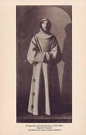 FRANCISCO DE ZURBARAN, 1598-1664. Saint Francis. Museum of Fine Arts.
