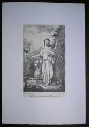 CLIO: Musa de la Historia (epopeya). Dibujada