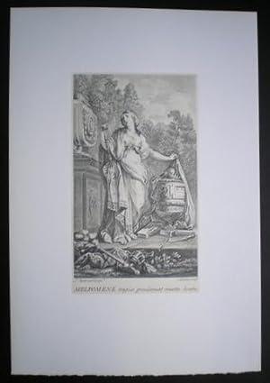 MELPOMENE: Musa de la tragedia. Dibujada por