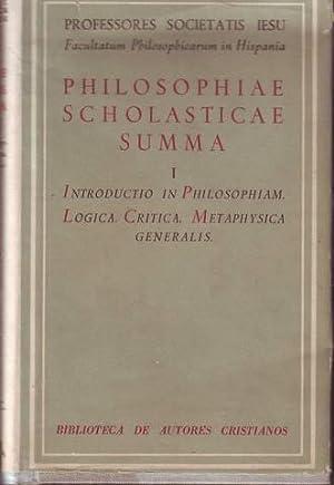 PHILOSOPHIAE SCHOLASTICAE SUMMA I. Introductio in Philosophiam.: SALCEDO, Leovigildo et