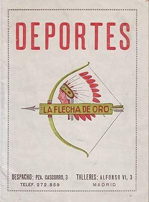 DEPORTES LA FLECHA DE ORO. Catálogo.