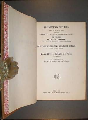 REAL SENTENCIA EJECUTORIA de 9 de Mayo de 1868. en la causa criminal. sobre falsificación ...