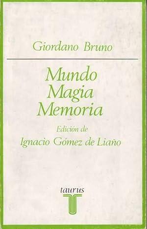 MUNDO, MAGIA, MEMORIA.: BRUNO, Giordano