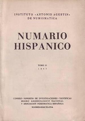 NUMARIO HISPANICO. Tomo XI. Inst. 'Antonio Agustín' de Numismática.